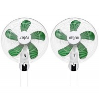 "(2) HYDROFARM ACF16 Active Air 16"" Wall Mountable Oscillating Hydroponic Fans"