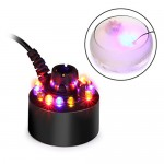 AGPtek® Color Changing 12 LED Mist Maker Fogger Water Fountain Pond Fog Atomizer Air Humidifier