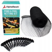 AlpineReach Pond & Pool Netting 15 x 20 ft - DENSE FINE MESH HEAVY DUTY NET | Cover for Leaves | Protects Koi Fish from Birds, Blue Heron, Cats, Pr...