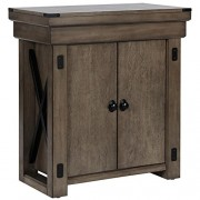 Ameriwood Home Wildwood Aquarium Stand, 20 gallon, Rustic Gray