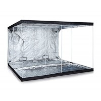 "Anjeet 120""x120""x80"" 48""x48""x80"" 24""x24""x56"" Reflective Mylar Hydroponic Grow Tent for Indoor Plant Growing Non Toxic Hut (120""x120""x80"")"