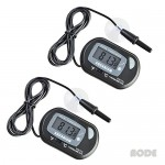 AODE® (2-Pack, Black) Digital LCD Fish Tank Aquarium Thermometer 600009