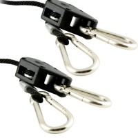 "Apollo Horticulture GLRP18 Pair of 1/8"" Adjustable Grow Light Rope Hanger w/ Improved Metal Internal Gears"