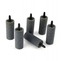 "AQUANEAT Aquarium Air Stone 2"" 6 PCS Gray Fish Tank Long-Last Aerator Diffuser Pump Hydroponics"