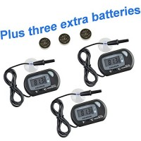 AQUANEAT Aquarium Digital Thermometer 3 PCS Fish Tank Water Terrarium Reptile FREE Extra Batteries