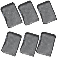 "AQUANEAT Aquarium Filter Media Mesh Bags Zipper Reusable (8""x5.5""(6-pack))"