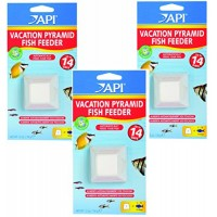 (3 Pack) API 14-Day Pyramid Fish Feeders