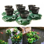 7pcs Aquaponics Floating Pond Planter Basket Kit - Hydroponic Island Gardens