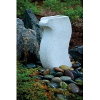 Aquascape 98914 White Granite Modern Curved Fountain Water Feature for Landscape and Garden