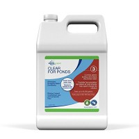 Aquascape CLEAR Water Treatment for Koi and Fish Ponds, Blend of Clarifiers to Clear Cloudy or Discolored Water and Reduce Debris, 1 gallon/3.78 L ...