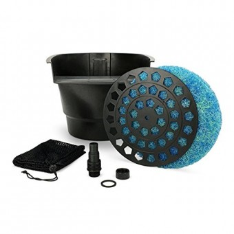 Aquascape Pond Filter and Waterfall Spillway, Efficient Mechanical and Biological Filtration, Compact | 77020