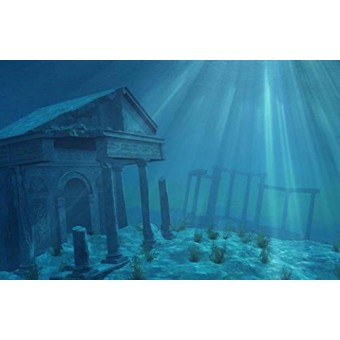 "SPORN Aquarium Background, Static Cling, Ruins 36"" x 18"""