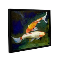 """Art Wall Michael Creese's Feng Shui Koi Fish Gallery Wrapped Floater Framed Canvas, 18 by 24"""""""