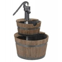 Astonica 40201032 Country Cascading Wood Hand Pump Fountain