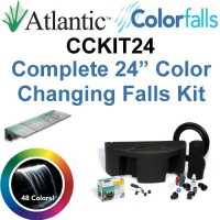 "Atlantic Water Gardens CCKIT24 Complete Color Changing Colorfalls Kit - 24"" Spillway, 48 Colors, Basin, Pump, Hose & Fittings"