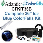 "Atlantic Water Gardens CFKIT36B Complete Ice Blue Colorfalls Lighted Falls Kit - 36"" Spillway, Basin, Pump, Hose & Fittings"