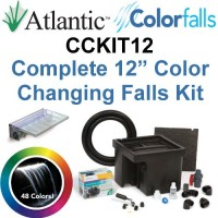 "Atlantic Water Gardens CCKIT12 Complete Color Changing Colorfalls Kit - 12"" Spillway, 48 Colors, Basin, Pump, Hose & Fittings"
