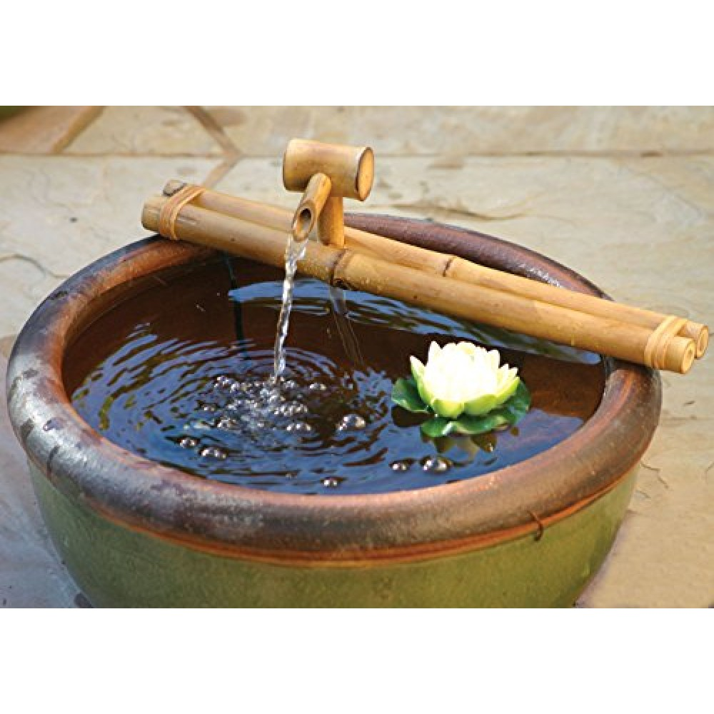 bamboo accents zen garden water fountain spout complete. Black Bedroom Furniture Sets. Home Design Ideas