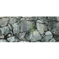 "Dark Silver Rock / Stone Aquarium Background 18"" x 48"" / 55 FGallon / Rocky Fish Tank Background"