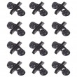 BCP 12 Pieces Plastic Suction Cup Divider Holder for Aquarium Fish Tank