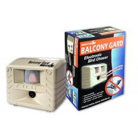 Bird-X Balcony Gard Ultrasonic Bird Repeller keeps birds away from small areas like balconies, decks and small yards with silent-to-humans, ultraso...