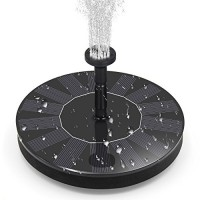 BOBOO Solar Fountain Pump,Free Standing Solar Powered Bird Bath Fountain Water Pump,1.4W Solar Outdoor Floating Fountain Pump Kit,for Garden, Pool,...