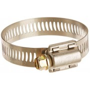 """Breeze Power-Seal Stainless Steel Hose Clamp, Worm-Drive, SAE Size 24, 1-1/16"""" to 2"""" Diameter Range, 1/2"""" Bandwidth (Pack of 10)"""