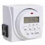 Reptile Digital Program Timer; 7-day, dual-outlet
