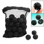 CNZ Lighting CNZÂ 50pcs Black Aquarium Fish Tank Filter Bio-balls Filtration Media, 1-inch