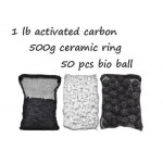 CNZ Aquarium Filter Media Kits, Activated Carbon, Bio Ball, Ceramic Ring