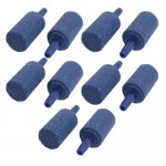 10PCS 1-inch Mineral Bubble Release Aquarium Air Stone Airstone Blue