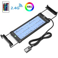 COODIA Aquarium Hood Lighting Color Changing Remote Controlled Dimmable LED Light for Aquarium/ Fish Tank, 6W 36 LED's Extendable upto 19.5 inches ...