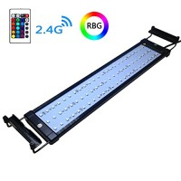 COODIA Aquarium Hood Lighting Color Changing Remote Controlled Dimmable RGBW LED Light for Aquarium/Fish Tank, Extendable upto 28 inches (For Fresh...