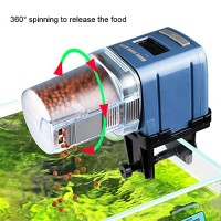 COODIA Auto Fish Food Feeder Battery Operated Automatic Aquarium Tank Timer Feed Fish, 4 times Max a Day, Capacity Adjustable, LCD Display