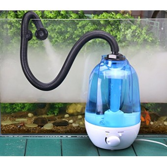 Coospider Reptile Fogger Terrariums Humidifier Fog Machine Mister- 3 Liter Tank 380L/hr High Volume Fog- Ideal for a Variety of Reptiles/Amphibians...