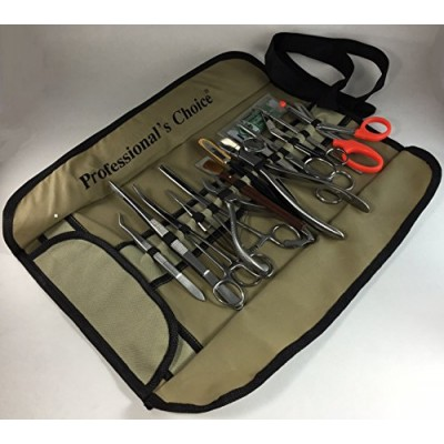 Coral Propagation Fragging Kit Set 15 Pcs Hard Soft Freshwater Reef Stainless Steel Tools Fold Up Case