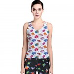 Colorful Sea Pattern Tropical Fish Medusa Ocean Tank Top