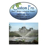 Custom Pro 10,000 GPH Floating Water Fountain for Ponds and Lakes - 1 HP - 4 Spray Patterns - Beautifies and Aerates - Durable 32 Inch Fountain Float