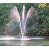 Custom Pro FT 3500 Floating Pond and Lake Fountain Complete Kit - Powerful Pump, 4 Spray Styles, 100 Foot Cord and More - Easy to Assemble
