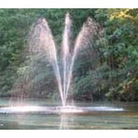 Custom Pro FT 6000 Floating Pond and Lake Fountain Complete Kit - Powerful Pump, 4 Spray Styles, 100 Foot Cord and More - Easy to Assemble