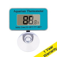 DaToo Aquarium Thermometer With Sucker, Second Generation (Update), 1 Yr Warranty