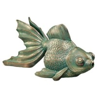 Design Toscano Butterfly Asian Koi Piped Spitter Statue