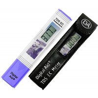 Digital Aid Professional TDS, EC & Temperature Meter. 3 in 1. Professional Quality TDS Meter:0-9990ppm. Accurate and Reliable Water Test Meter. Ide...