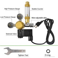 DoubleSun Hydroponics Aquarium CO2 Regulator Made of Brass-Bubble Counter Check Valve Fits Standard US Tanks and Flow Meter Adjusted Easily-Maintai...
