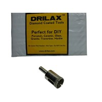 "Drilax174; Small Diamond Coated Drill Bit Hole Saw Pick Size 1/4"", 5/16"", 3/8"", 1/2"", 5/8"", 3/4"", 7/8"" in Inch Glass, Marble, Granite, Ceramic Porc..."