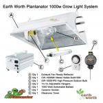 Earth Worth 1000 Watt Plantanator Grow Light Kit Dual Bulb System for Hydroponic