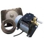 EasyPro Rocking Piston Pond Aeration System 1/4 HP Kit with Poly Tubing PA34