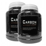 2 Pack - 24 Ounce Premium Laboratory Grade Super Activated Carbon with Free Media Bag Inside Each Jar - AM BRAND