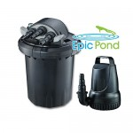 Epic Pond GinFlo 2000 Pump, Filter and UV Combo Kit for Ponds up to 2,000 Gallons