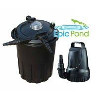 Epic Pond GinFlo 3000 Pump, Filter and UV Combo Kit for Ponds up to 3,000 Gallons